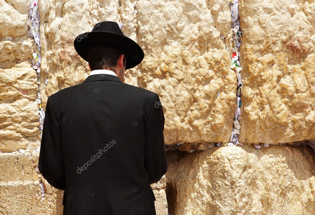 Jew at the wailing western wall. Jerusalem. Israel. — Stock Photo #1417744