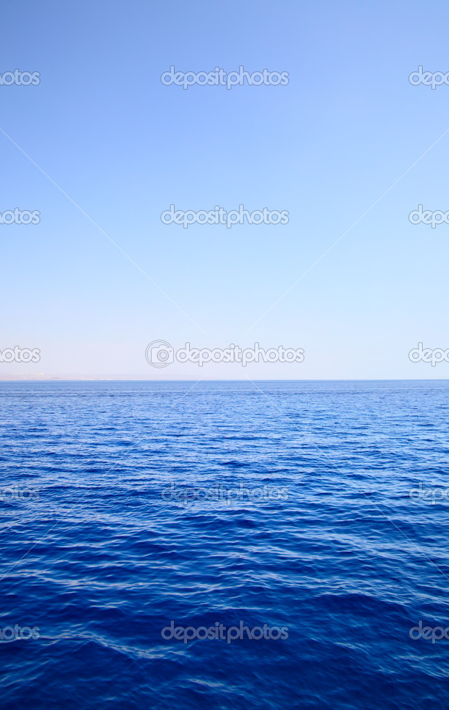 Sea and sky, may be used as background  Stock Photo #1417777