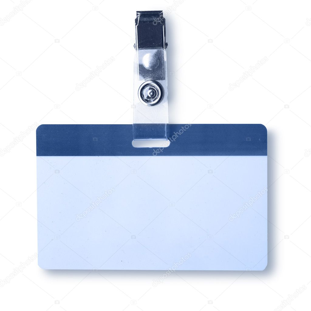 Blank badge close-up isolated over white background — Stock Photo #1418052