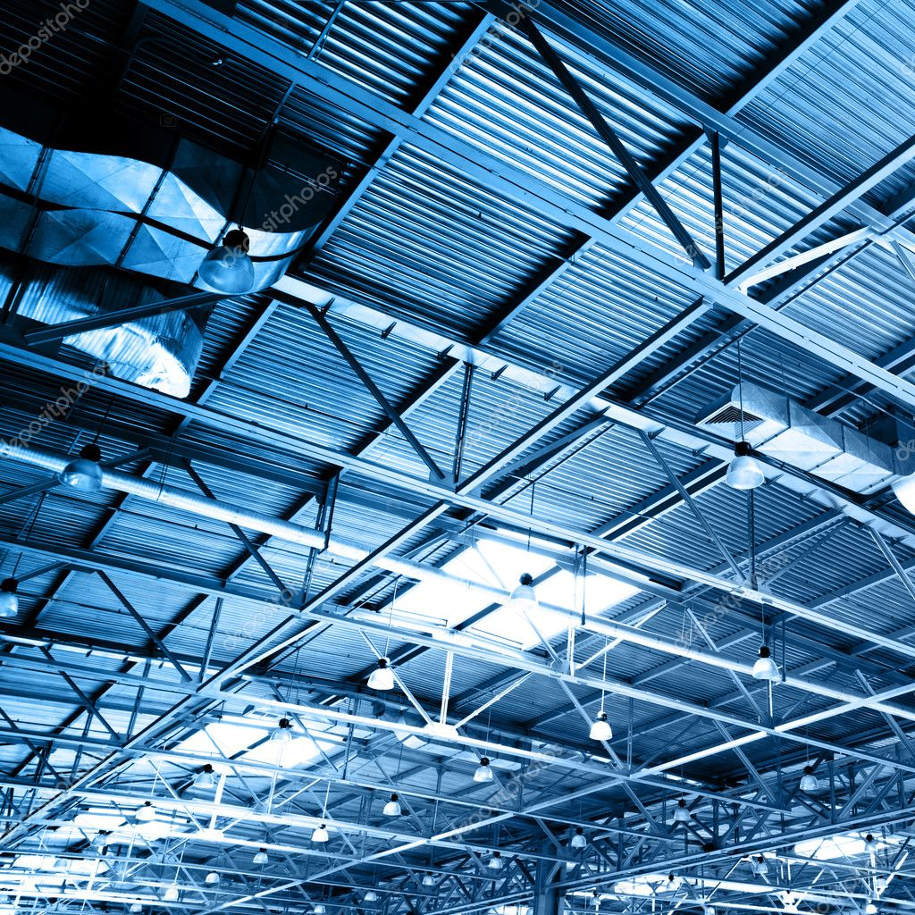 Ceiling of storehouse toned in the blue color — Stock Photo #1418082