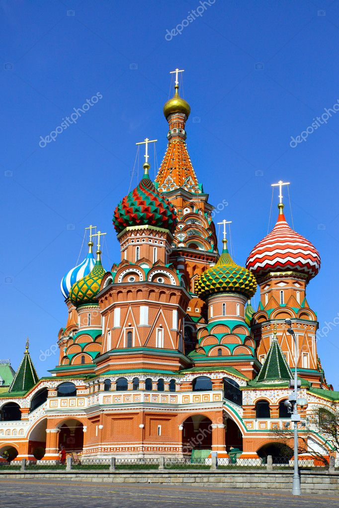 Cathedral of St. Basil the Blessed, Red Square, Moscow, Russia  Stock Photo #1418654