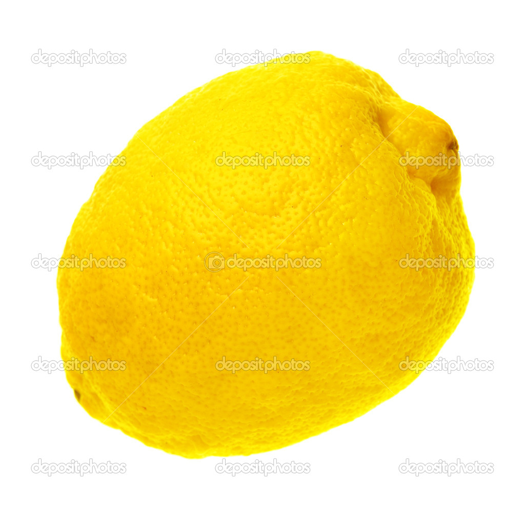 Ripe lemon isolated over a white background  Stock Photo #1419931