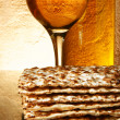 Royalty-Free Stock Photo: Wine and matzoh