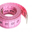 Stock Photo: Pink measuring tape