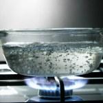Glass saucepan — Stock Photo