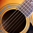 Sounding board of guitar — Stock Photo