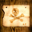 Paper with skull and crossbones — Stock Photo