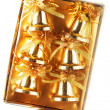 Stock Photo: Pack of gold Christmas bells