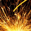 Blazing sparks — Stock Photo