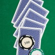 Playing cards from back — Stock Photo