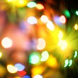 Stock Photo: Colorful christmas lights background