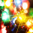 Colorful electric light bulbs - Stock Photo