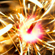 Sparkler on fire — Stock Photo