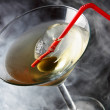 Cocktail glass with olive — Stock Photo