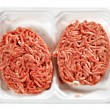 Raw meat rissoles — Stock Photo