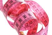 Pink measuring tape — Stock Photo