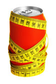 Cola can and measuring tape — Stock Photo