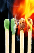 Burning matches — Stock Photo