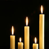 Five candles — Stock Photo