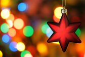 Red Christmas star — Stock Photo