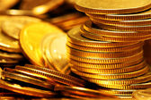 Heap of gold coins — Stock Photo