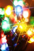 Colorful electric light bulbs — Stock Photo