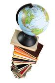 Globe on books — Stock Photo