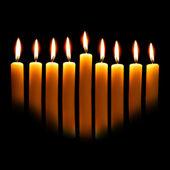 Hanukkah candles — Stock Photo