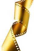 Gold film strip — Stock Photo