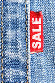 Jeans sale — Stock Photo