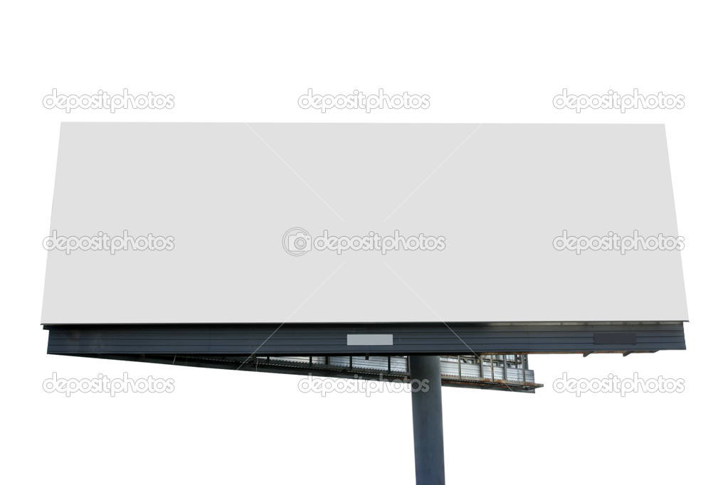 Blank billboard isolated over white background — Stock Photo #1425357