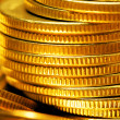 Gold coins close-up — Stock Photo