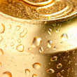 Gold can of drink — Stock Photo