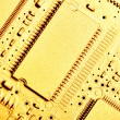 Gold circuit board — Stock Photo