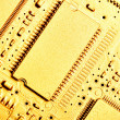 Gold circuit board — Stock Photo #1431638
