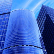 Skyscrapers under blue sky — Stock Photo