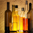 Stock Photo: Bottles of alcoholic beverages