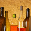 Many bottles of alcohol — Stock Photo