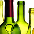 Wine bottles close-up isolated — Stock Photo