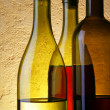 Stock Photo: Three wine bottles