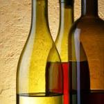 Three wine bottles — Stock Photo