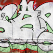 Wall with graffiti — Stock Photo