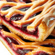 Pieces of cherry pie - Stock Photo