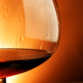Glass of cognac close-up — Stock Photo