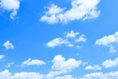 Blue sky and lots small clouds — Стоковое фото
