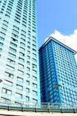 Modern apartment skyscrapers — Stock Photo