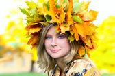 Bella mujer de ojos azules — Foto de Stock