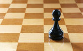 Black pawn — Stock Photo