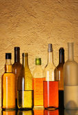 Lots bottles of alcohol — Stock Photo