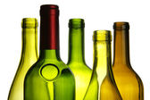 Wine bottles close-up — Stock Photo